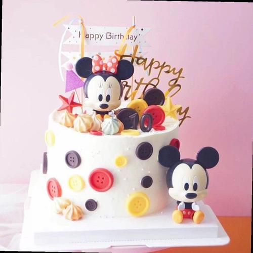 儿童礼物蛋糕装饰米奇米妮米老鼠卡通派对摆件烘焙蛋糕甜品台装扮