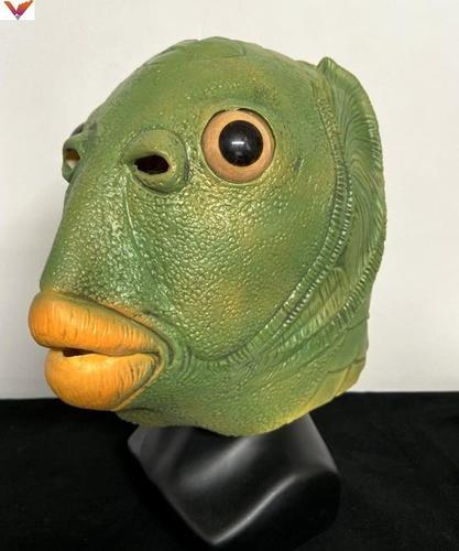 奔波儿灞绿鱼人头套面具抖音搞怪搞笑网红沙雕绿头怪
