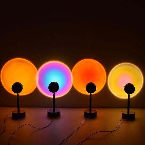 灯夕阳网红灯日不落投影落地灯落日余晖艺术情趣氛围台灯拍照德美洛