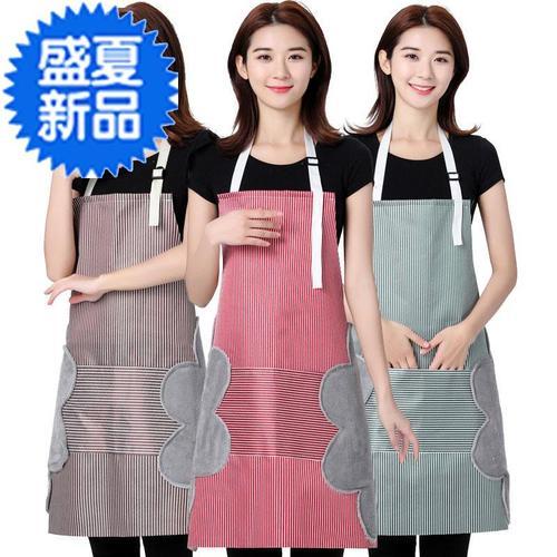 大人家用烧防水擦可围裙腰菜手围时尚x围兜大码罩衣厨房防油衣服