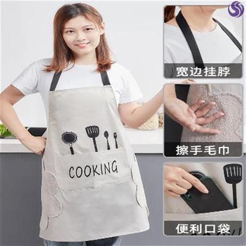 炒菜围裙网红h同款创意厨房防水可爱做饭穿尚北欧风