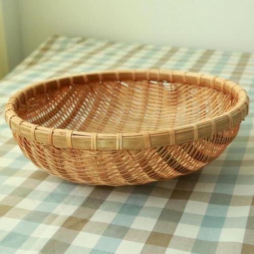 新款菜篮子包编织甜品材料藤篮茶几长方形圆簸箕的