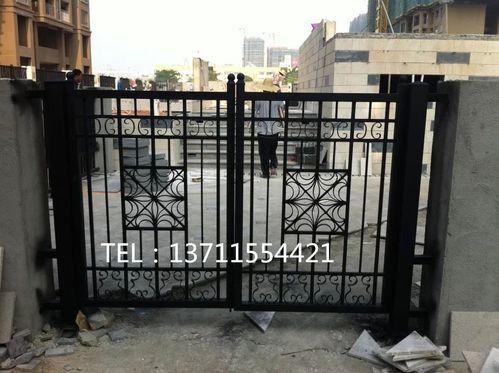 广州厂家订做铁艺大门 欧式铁门别墅铁门庭院大门进户