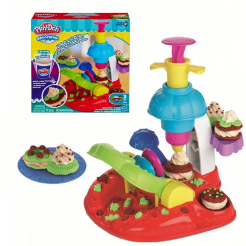 孩之宝培乐多彩泥玩具缤纷曲奇蛋糕冰淇淋橡皮泥儿童