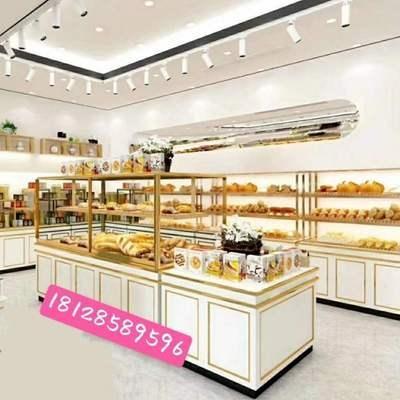 面包柜面包展示柜蛋糕店玻璃模型架子展示架边柜商用柜烘焙中岛柜