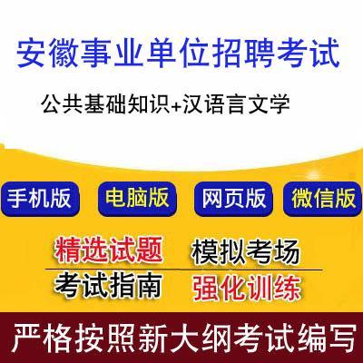 安徽事业单位招聘考试公共基础知识汉语言文学重点题