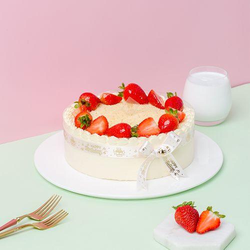 御蝶坊新鲜现做水果蛋糕淡奶油生日蛋糕草莓华尔兹