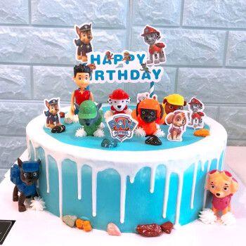 儿童生日蛋糕独角兽网红羽毛布朗熊奥特曼蜘蛛侠订制情景创意卡通送