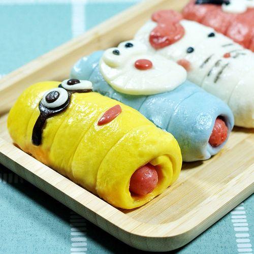 卡通热狗肠果蔬热狗卷香肠包子儿童可爱面食面点早餐速冻方便食品