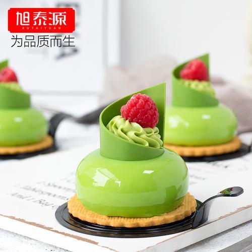 旭泰源8连立体椭圆慕斯模具硅胶法式西点蛋糕扁圆模型