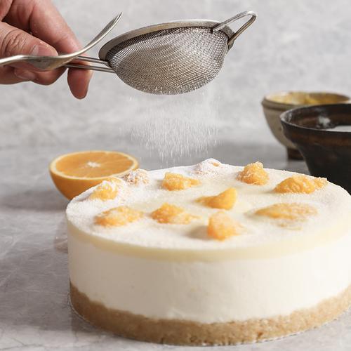 【吃不腻的芝士橙子蛋糕】爆汁脐橙肉与酸奶芝士慕斯巧妙碰撞,酸甜