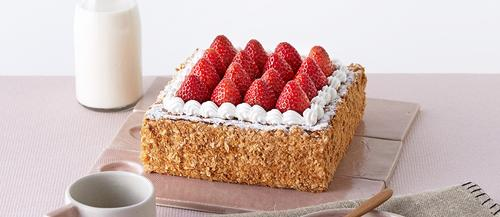 诺心lecake草莓拿破仑蛋糕