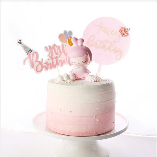 女孩生日蛋糕插件摆件儿童卡通小公主蛋糕