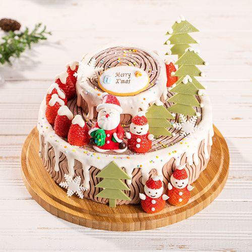 圣诞树桩蛋糕(xjhz)