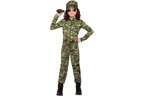 forum novelties 带帽子的军人女孩儿童服装