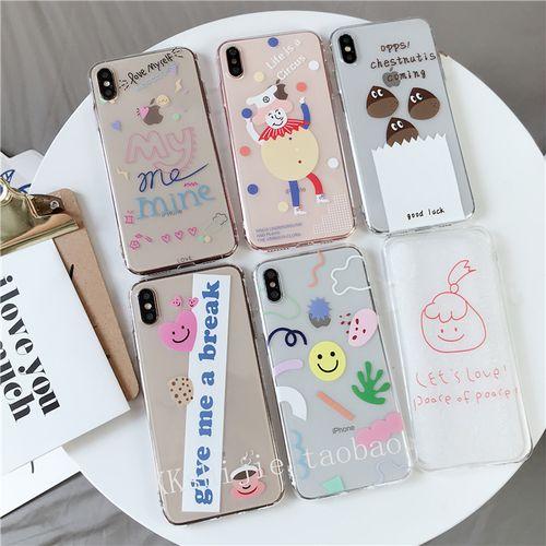 ins韩国趣味小众可爱卡通苹果iphonexsmax手机壳11pro