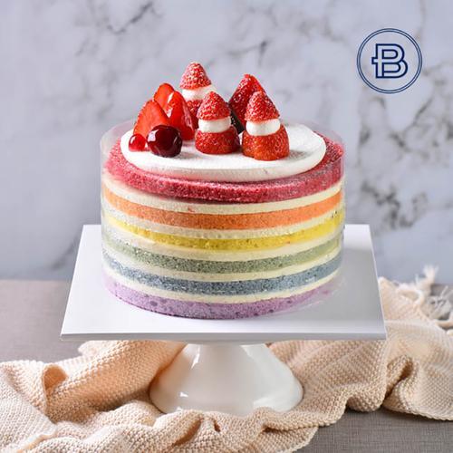 彩虹蛋糕蛋糕
