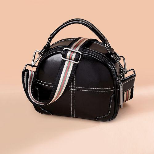 【经典百搭】新款牛皮包包单肩手提小包苹果包女式斜