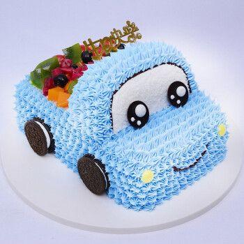 儿童生日蛋糕当日送达汽车蛋糕订制情景创意卡通送小朋友上海广州