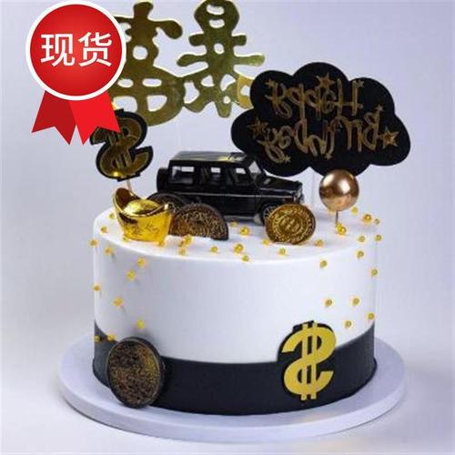 蛋糕模型 2020新f款卡通小汽车生k日蛋糕模型 假蛋糕