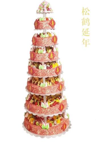 7层松鹤延年  架子蛋糕(冷/零)