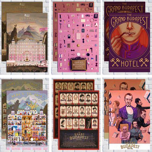 布达佩斯大饭店复古电影海报装饰挂画墙贴图ins风复古