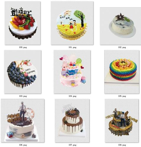 93-蛋糕图片生日蛋糕图片素材设计素材定制卡通网红蛋糕psd免抠图