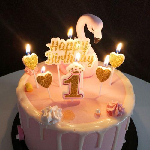 皇冠金粉无烟石蜡数字生日蜡烛 0-9宝宝周岁蛋糕 生日