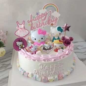 侠订制情景创意卡通送男孩女孩上海广州全国同城配送 kitty猫蛋糕