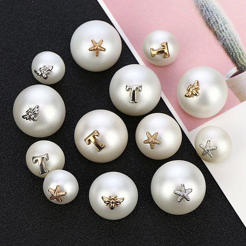 韩版蘑菇珍珠纽扣时尚百搭女式衬衫开衫扣子圆形毛衣