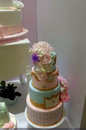 泡沫蛋糕模型假体泡沫蛋糕胚翻糖蛋糕裱花模具4层组合