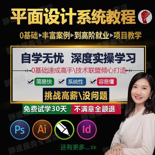 ps视频教程ai/cdr/ui软件平面设计淘宝美工课程培训