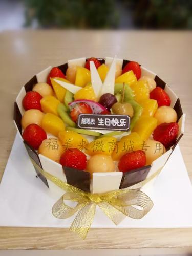 黑白板水果蛋糕款式一