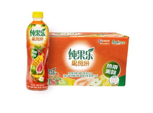 果缤纷 热带美味 果汁饮料整箱 500ml*15瓶 百事出品
