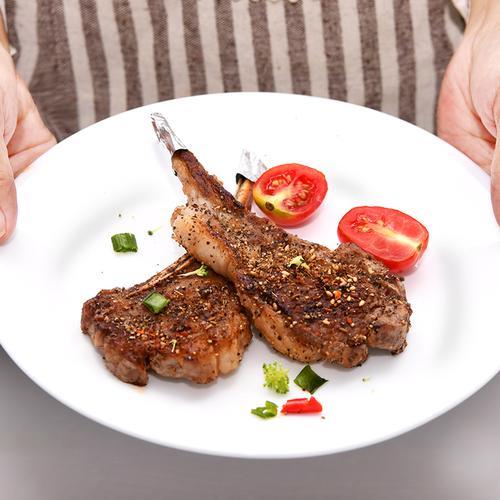 新鲜内蒙法式羊排600g小切12肋羔羊肉带骨烧烤食材半