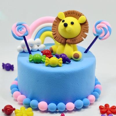 彩泥幼儿园儿童泡沫超轻粘土diy蛋糕模型超轻粘土蛋糕材料包制作
