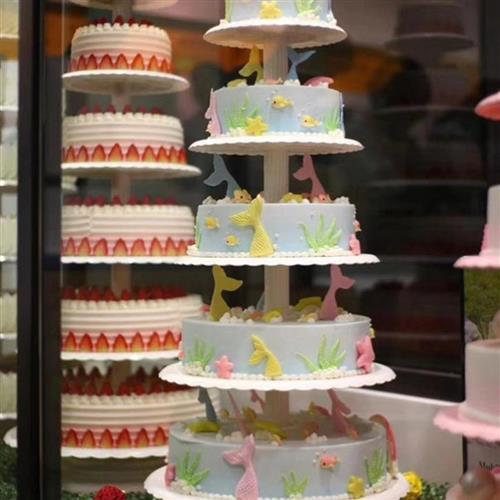 店铺摆设宝宝周岁组合现代典8层f架子6层3层蛋糕支架