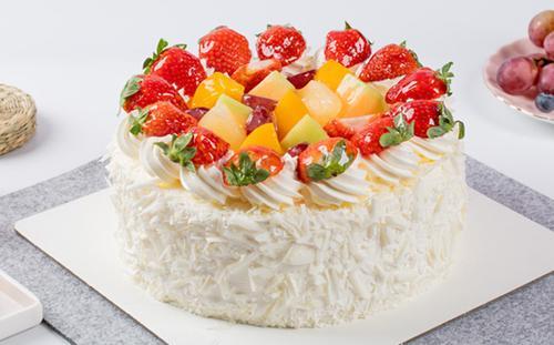 《草莓心语a款》生日蛋糕