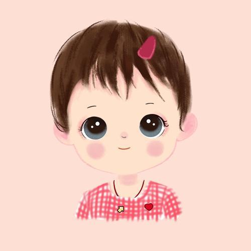 可爱头像萌宝卡通形象照片转手绘宝宝漫画插画设计