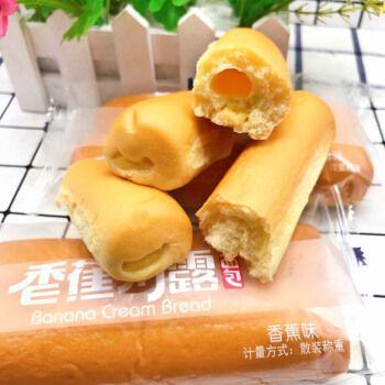 微帆 香蕉奶露面包香蕉牛奶蛋糕点网红儿童营养早餐懒人充饥零食 1斤