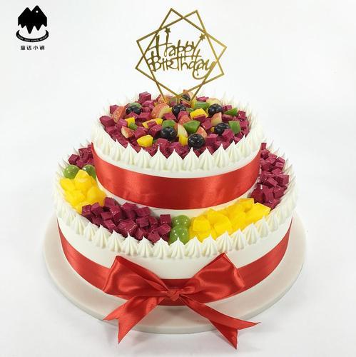 样品生日水果仿真双层2019流行网红 欧式蛋糕新款假