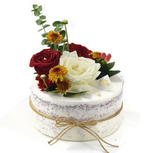 【花朝月夕】鲜花酸奶红丝绒蛋糕