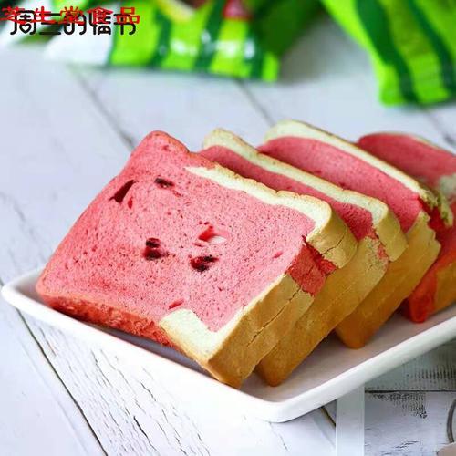 【官方旗舰】周三的情书西瓜吐司夹心面包营养早餐整箱宿舍网红零食