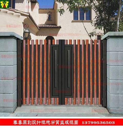 欧式铁艺别墅门庭院门门铁门大门进户门花园门密封入户门定做